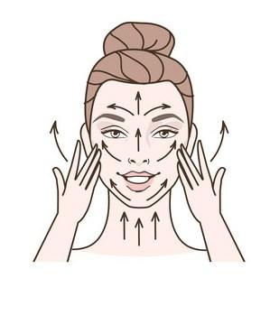 massaging camellia skin defense face oil into your skin